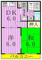 コーポ斉藤[203号室]の間取り