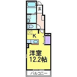 アンジュ・カルムB棟[1階]の間取り