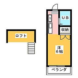 Hills higashiyama A[1階]の間取り