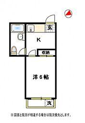デタケビル[2階]の間取り