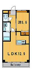 神奈川県横浜市旭区三反田町の賃貸マンションの間取り