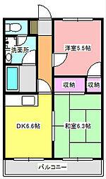 静岡県浜松市東区半田山4丁目の賃貸マンションの間取り