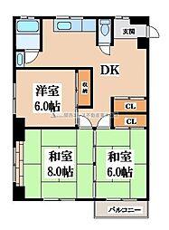 第二塚本コーポラス[2階]の間取り