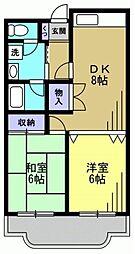 森コーポ[1階]の間取り