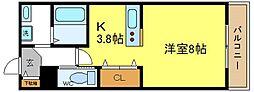 ホワイトキューブ[206号室]の間取り
