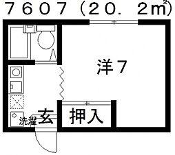 暁21−0号館[2F号室号室]の間取り