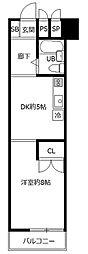 レジデンス富士森[3階]の間取り