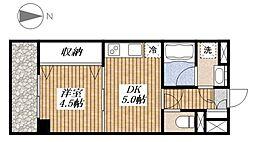 STEP1[302号室]の間取り