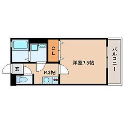 静岡県静岡市駿河区用宗5丁目の賃貸アパートの間取り