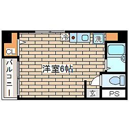 兵庫県神戸市須磨区大黒町1丁目の賃貸マンションの間取り