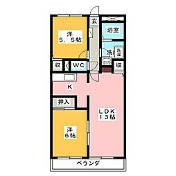 フロラシオンAI[2階]の間取り