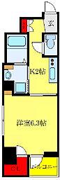 都営三田線 西巣鴨駅 徒歩6分の賃貸マンション 5階1Kの間取り