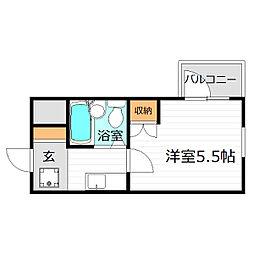ル・モンド三宅[2階]の間取り