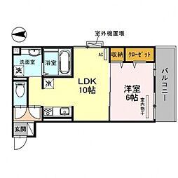 CozyCote西野(コージーコート)[203号室号室]の間取り