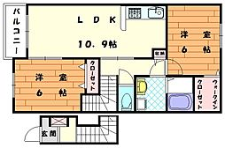 プレシード津屋崎[2階]の間取り