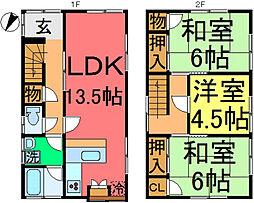 [一戸建] 東京都葛飾区新小岩1丁目 の賃貸【/】の間取り