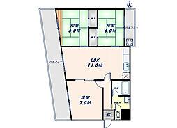 テラノコーポ[3階]の間取り