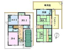 [一戸建] 奈良県生駒市辻町 の賃貸【/】の間取り