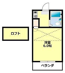 愛知県豊田市平芝町3丁目の賃貸アパートの間取り