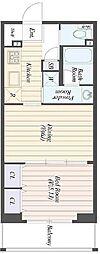仮称)柏の葉キャンパス 新築マンション計画 2階1DKの間取り