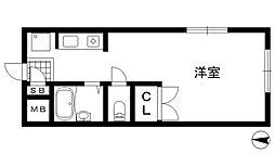兵庫県神戸市中央区琴ノ緒町2丁目の賃貸アパートの間取り