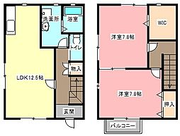[テラスハウス] 静岡県浜松市中区萩丘5丁目 の賃貸【/】の間取り