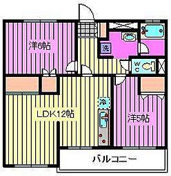 須賀第1ハイツ[301号室]の間取り