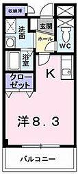 兵庫県姫路市飾磨区今在家3丁目の賃貸アパートの間取り