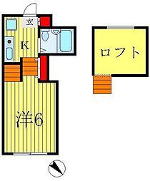 ジュネパレス松戸第72[2階]の間取り