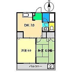 MATSUGIハイツ[1階]の間取り