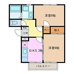 コーポラスアメニティ 2[2階]の間取り