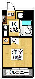 ルーラルタウン参番館[3階]の間取り