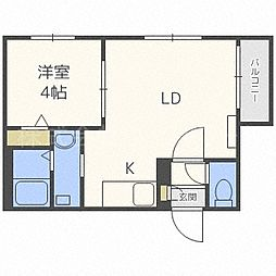 北海道札幌市中央区南四条西22丁目の賃貸マンションの間取り