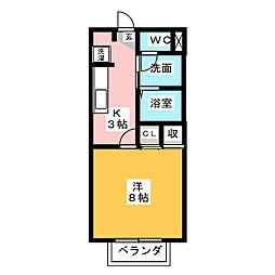 メゾン・ド・クレール[2階]の間取り