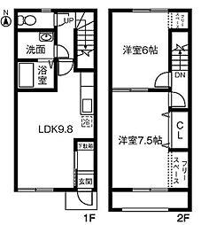 Maison de Sray B[105号室]の間取り
