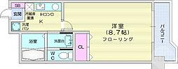 JR仙山線 東北福祉大前駅 徒歩13分の賃貸マンション 1階1Kの間取り