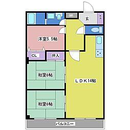 キィーロックハウス[4階]の間取り