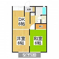 大阪府堺市東区菩提町4丁の賃貸アパートの間取り