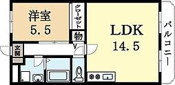 久御山ファーストマンション[3階]の間取り