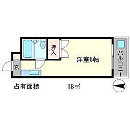 銀閣COZYハイツ[1階]の間取り