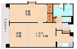 カサレアル高宮[4階]の間取り