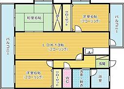 グレートハウス晩餐館[11階]の間取り
