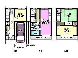 Osaka Metro谷町線 長原駅 徒歩15分 3LDKの間取り