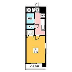 第6マルヤビル箱崎[3階]の間取り