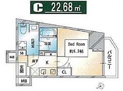 都営三田線 西巣鴨駅 徒歩3分の賃貸マンション 11階1Kの間取り