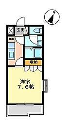 コートダジュールin桃ヶ丘B[1階]の間取り