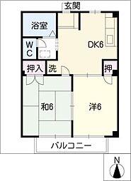 ニューシティ兼松I・II[1階]の間取り