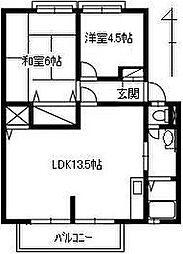 ドリームハイツB[2階]の間取り