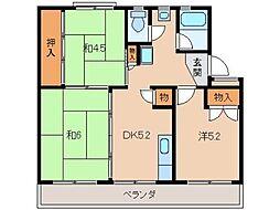 太田団地10159[4階]の間取り
