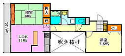 津田沼北見マンション[2階]の間取り